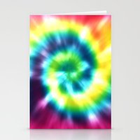 tie dye Stationery Cards featuring Tie Dye by Patterns of Life