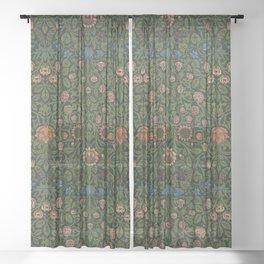 Violet and Columbine - William Morris Sheer Curtain