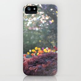 FLOWERS AND TREES IN MY GARDEN iPhone Case