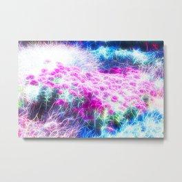 Floral Plasma Metal Print