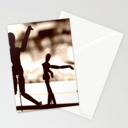 Wooden Puppet Sepia Stationery Cards