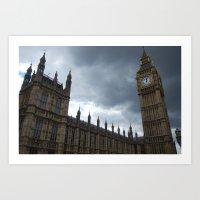 London Calls Art Print