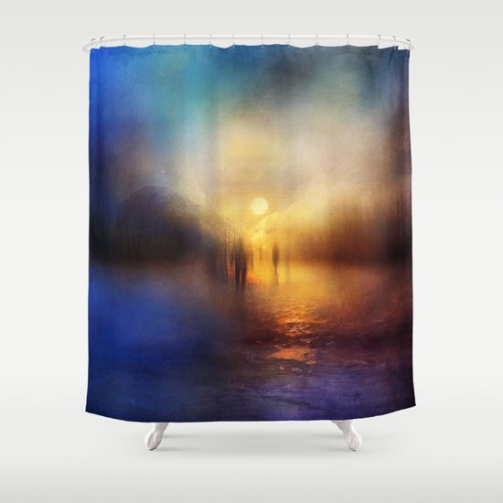 Light Echoes Shower Curtain