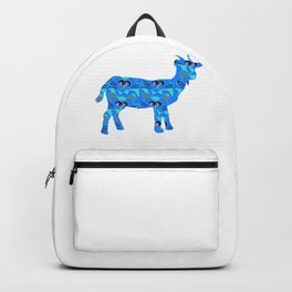 Blue cat Goat Backpack