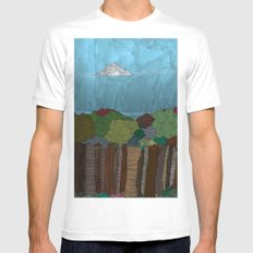 BigFoot Forest (Colour) LARGE Mens Fitted Tee White