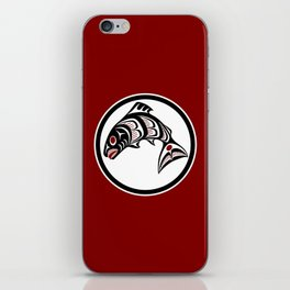 Northwest Pacific coast Haida art Salmon iPhone Skin