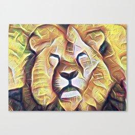 SOLEMN LION Canvas Print