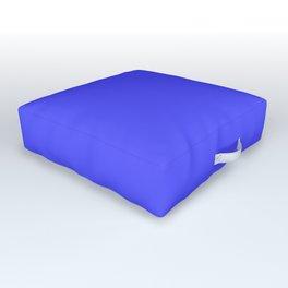 Bright Fluorescent Neon Blue Outdoor Floor Cushion