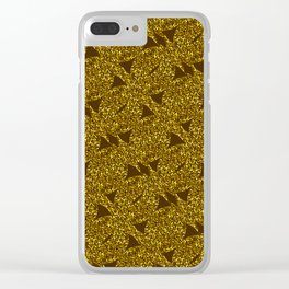 Golden sparkly abstract pattern Clear iPhone Case