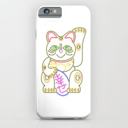 Maneki-Neko Neon – Good Luck iPhone Case
