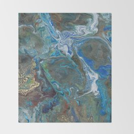 Abstract Oil Painting 17 Throw Blanket
