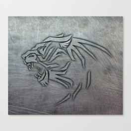 Bigcat Tribal on Metal Canvas Print
