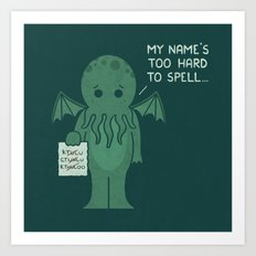 Monster Issues - Cthulhu Art Print