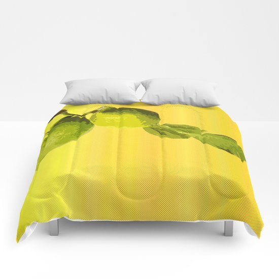 Summer Time Lime Comforters