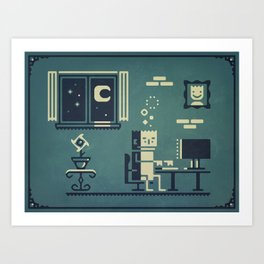 Screenstruck graphic illustration Art Print
