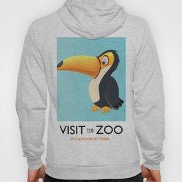 visit the zoo toucan cartoon Hoody