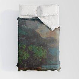 """Gustave Courbet """"Lac Léman avant la tempête (Lake Geneva before the storm)"""" Comforters"""
