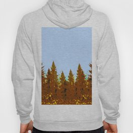DECORATIVE BROWN-OCHER COLORED FOREST Hoody
