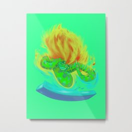 Crotalus between ice and fire Metal Print