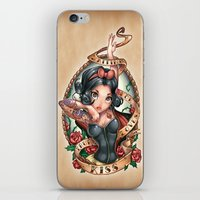 kiss iPhone & iPod Skins featuring Waiting For Loves True Kiss by Tim Shumate