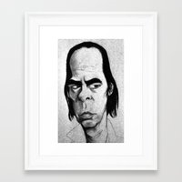 nick cave Framed Art Prints featuring Nick Cave by Mr Shins