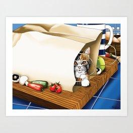 Kitchen Cat Art Print