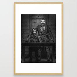 The Jokers in black and white Framed Art Print