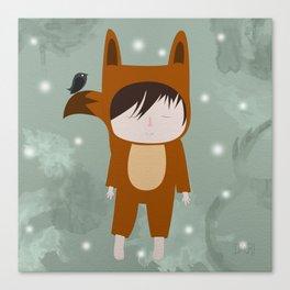 Foxie Boy Canvas Print