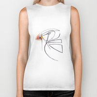 puffin Biker Tanks featuring Puffin Love by Chelle Shaw