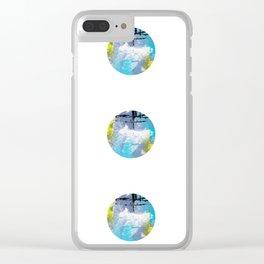 BEACH DOTS Clear iPhone Case