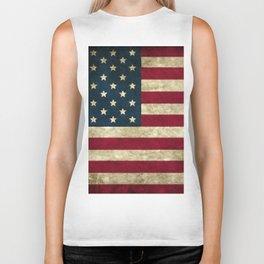Vintage American flag Biker Tank