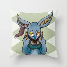 Bunnies have a Bite too Throw Pillow
