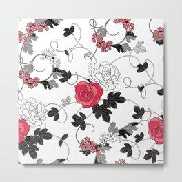 Floral Pattrn Metal Print