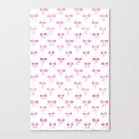 bows Canvas Prints featuring Bows by Happiness is... illustration & design