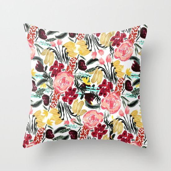 Wild Garden II Throw Pillow