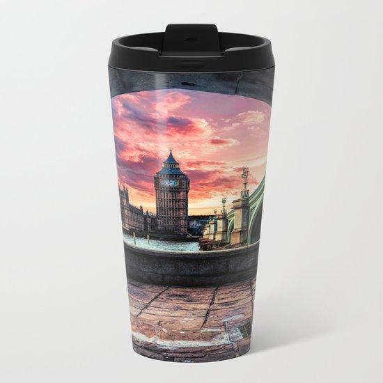 London Big Ben  Metal Travel Mug