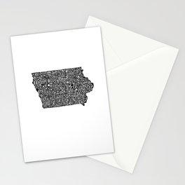 Typographic Iowa Stationery Cards