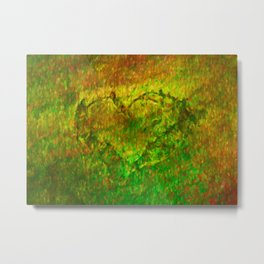 The Heart - Painting by Brian Vegas Metal Print