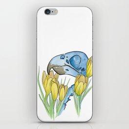 The Parakeet and The Crocus iPhone Skin