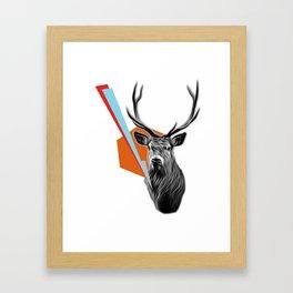 Geometric Stag Framed Art Print