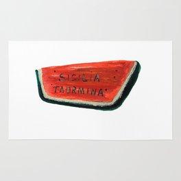 Fan's illustration - Watermelon ceramic in Taormina Sicilia Rug