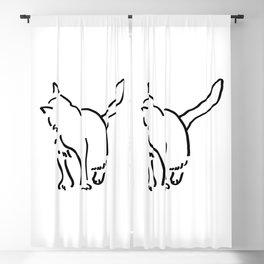 Looking back Kitten Blackout Curtain