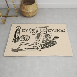 Be Cheerful, Live Well Skeleton Rug