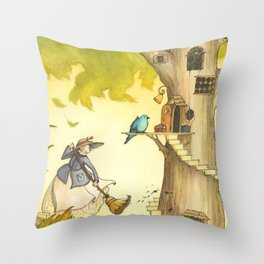 Spring Cleaning At The Maple Tree Orphanage Throw Pillow