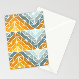 Geometric Sunset Stationery Cards