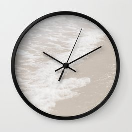 Beach Foam Ocean Shore Photograph Wall Clock