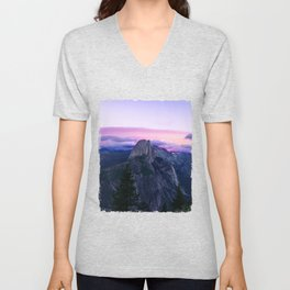 The Mountains and Purple Clouds Unisex V-Neck