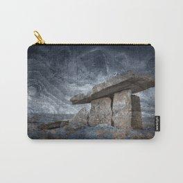 Poulnabrone Dolmen - Blue Winter Grunge Carry-All Pouch