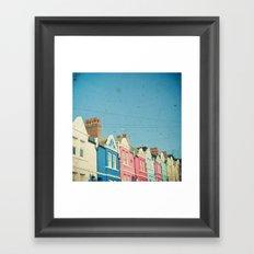 Rainbow Street Framed Art Print