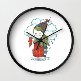 Between Clouds Wall Clock